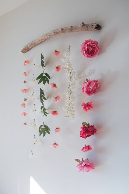 DIY Flower Wall Hanging images