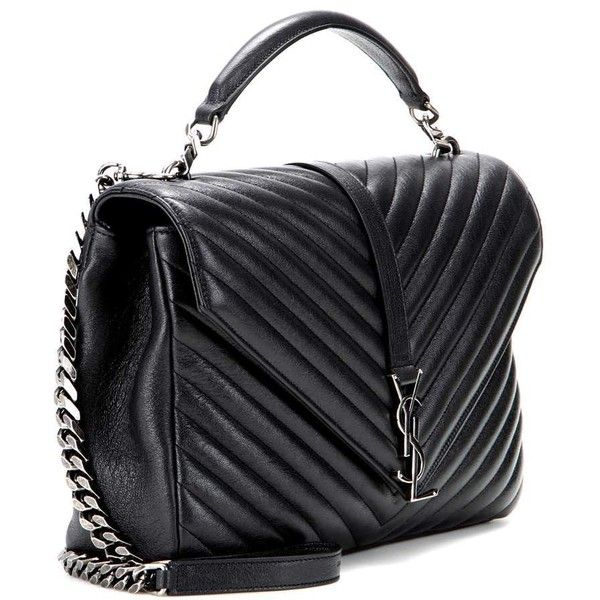 Saint Laurent Classic Large College Monogram Quilted Leather Shoulder 9 495 Ron Liked On Polyvo With Images Women Bags Fashion Handbags Bags Yves Saint Laurent Bags