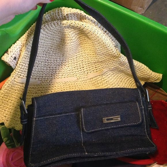 GUESS Jean purse Used.. Stains are above Guess Accessories