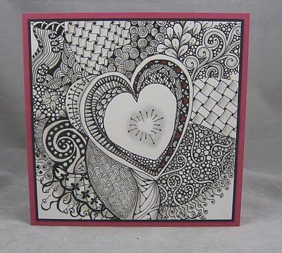 Zentangles Valentine by Miriam