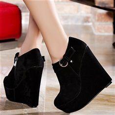 Booties Black size 37 women heels 14 cm
