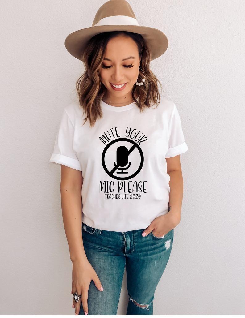 Remote Teaching Shirt, Mute Your Mic Shirt, Teache