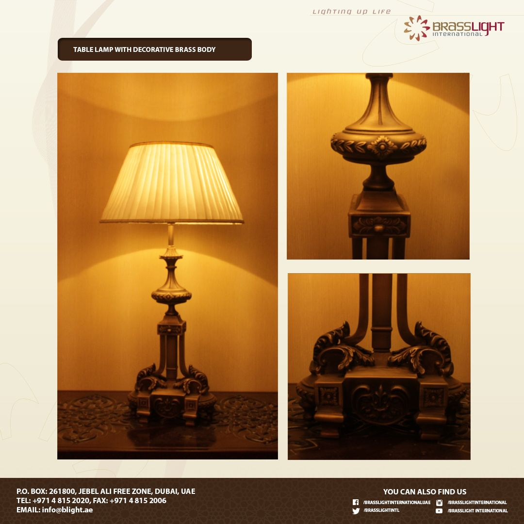 This Beautiful Table Lamp With Decorative And Stylish Body Best