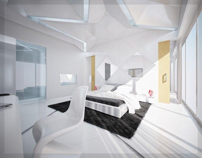 moderne schlafzimmer schwarz weiß ideen #schlafzimmerdekorieren