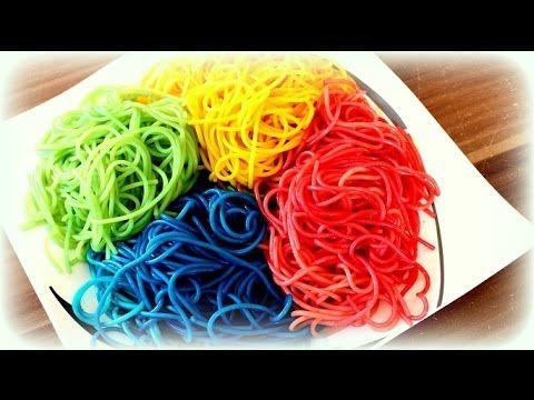Nudeln Naturlich Farben Regenbogen Pasta Maggi Kuchenmagie
