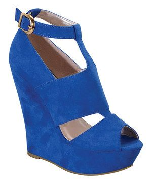This Royal Blue Andrea Wedge by I Heart Footwear is perfect! #zulilyfinds