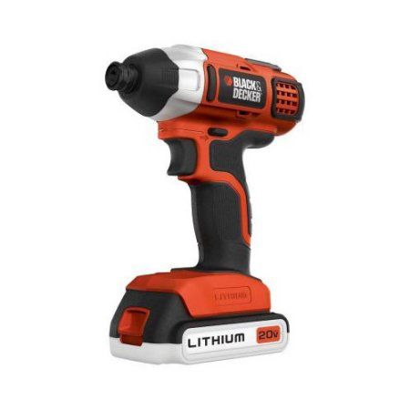 Black And Decker Bdc120c 20v Max Cordless Lithium Ion Impact Driver Multicolor