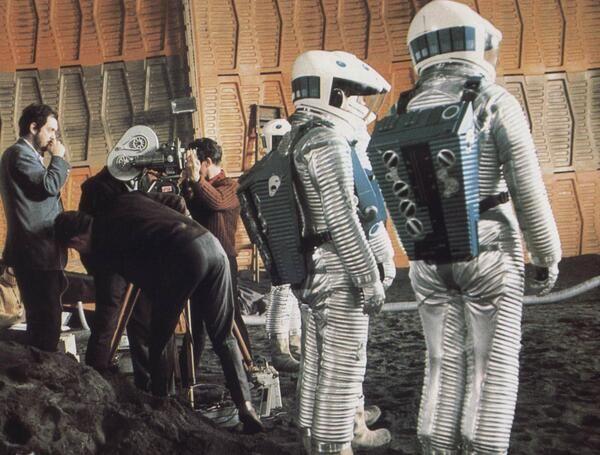 """Fotos de rodaje de """"2001: odisea en el espacio"""