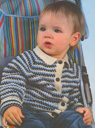 кофта крючком для мальчика | Мальчики, Дети и Детская одежда