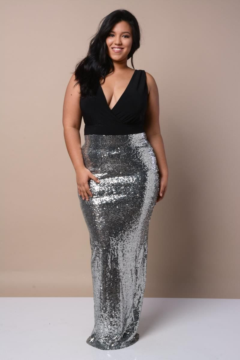 Glamorous Sequin Gown Dresses+ GS-LOVE | Curvy Movement (PlusSize ...