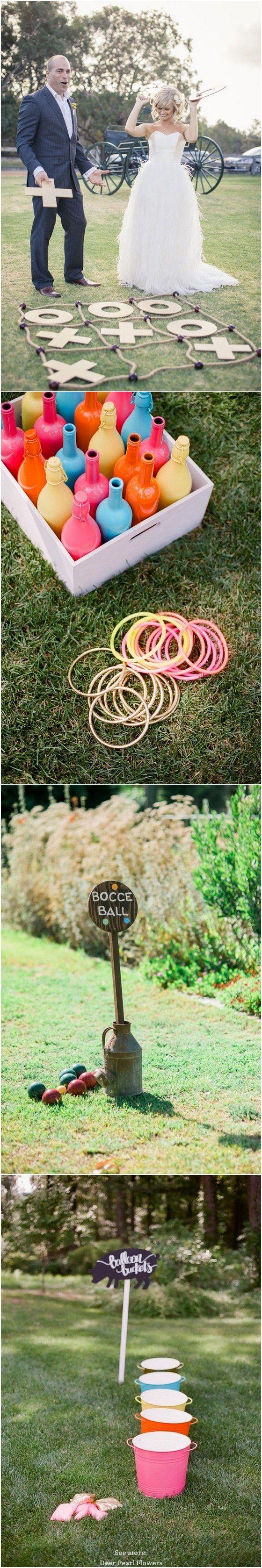 Wedding lawn decoration ideas  Outdoor Wedding Reception Lawn Game Ideas