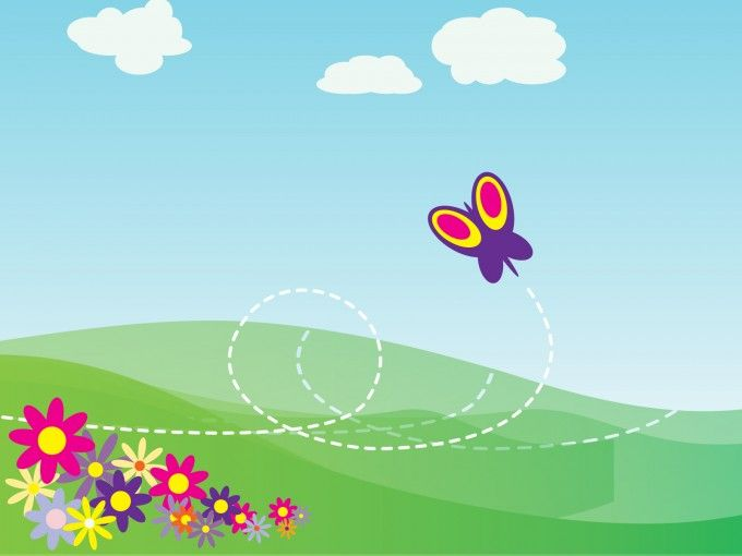 Cartoon butterfly and flowers powerpoint template background is a cartoon butterfly and flowers powerpoint template background is a free ppt template with green cartoon design toneelgroepblik Choice Image