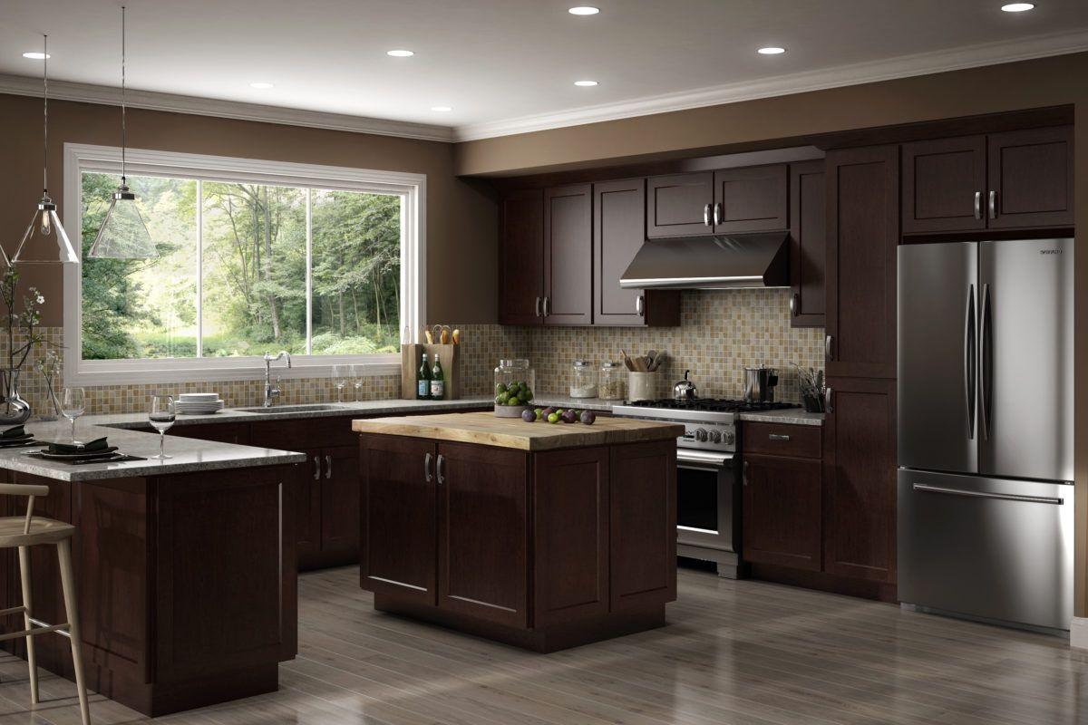 Country Luxor Espresso in 2020   Espresso kitchen cabinets ...
