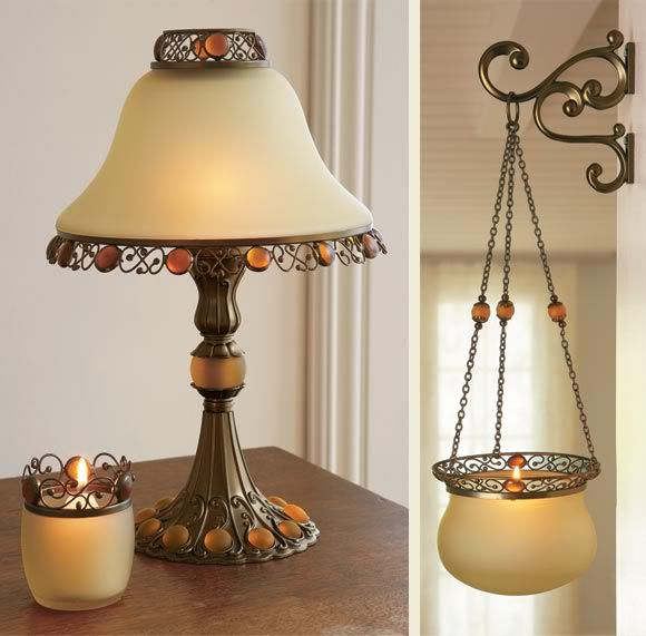 Lamp and candle stand on Designs Next httpwwwdesignsnextcom