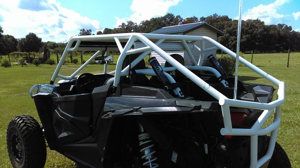 Polaris Rzr 1000 Roll Cage Aluminum Roof Light Bar And Sound Bar Mounts Yeti Cooler Tie Downs And Rear Bumper Rzr Rzr 1000 Polaris Rzr 1000