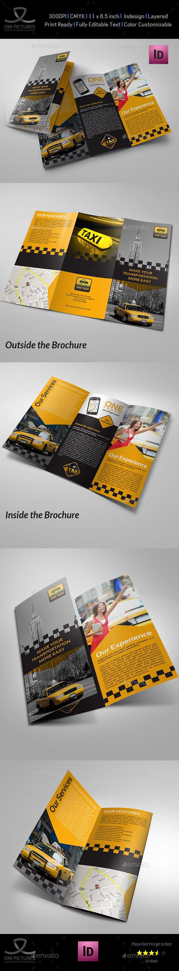 Taxi Service Tri-Fold Brochure Template