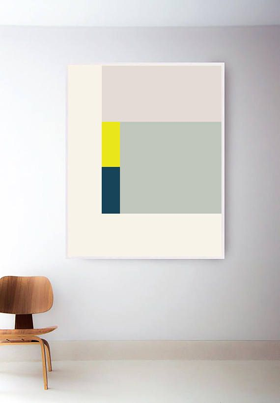 Printable Retro Art Print, Abstract Geometric Print, Shapes Print, Geometric Art, Mid Century Art, Mid Century Modern Print, Green Art Print