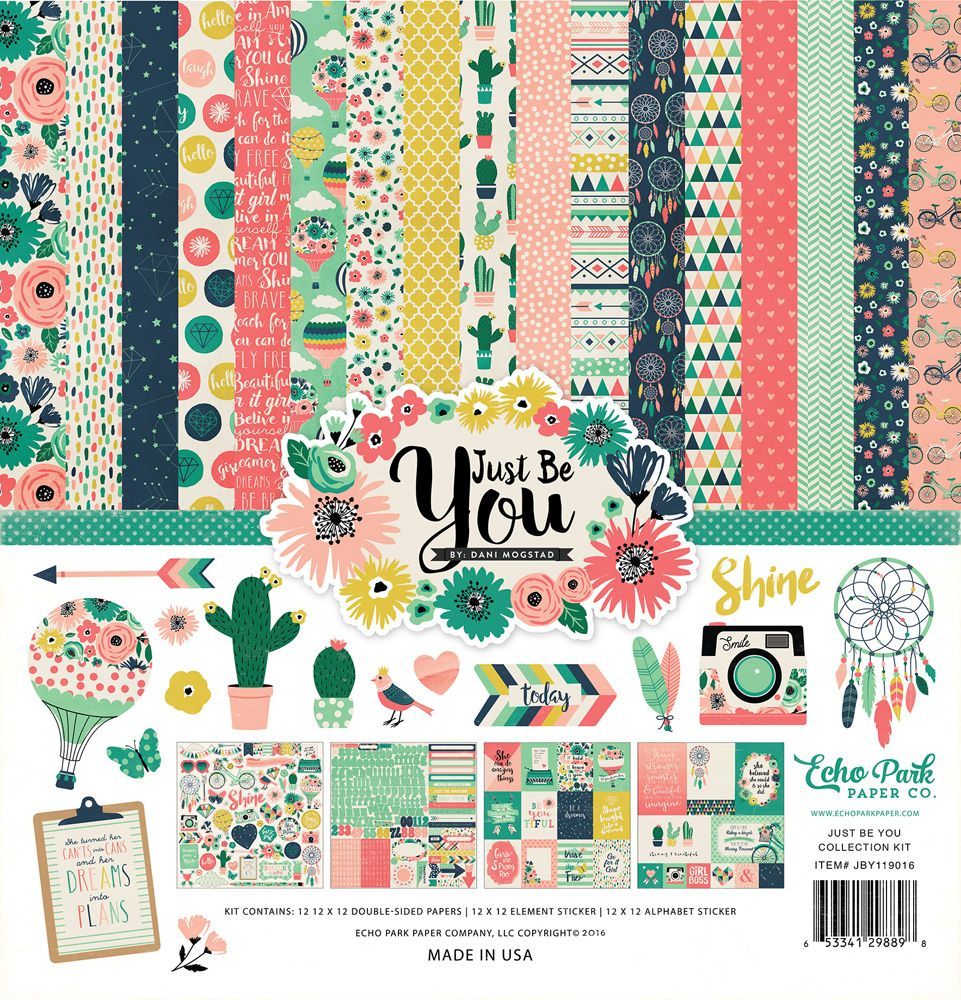 Scrapbook paper collections - Be You