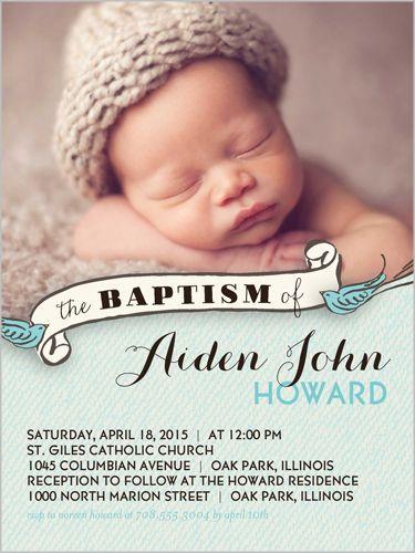 Baptism Invitations 4x5 Invitation