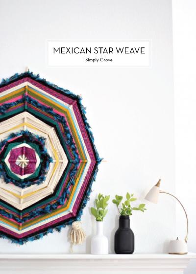 12 JUNE DIYS – Mexican Star Weave