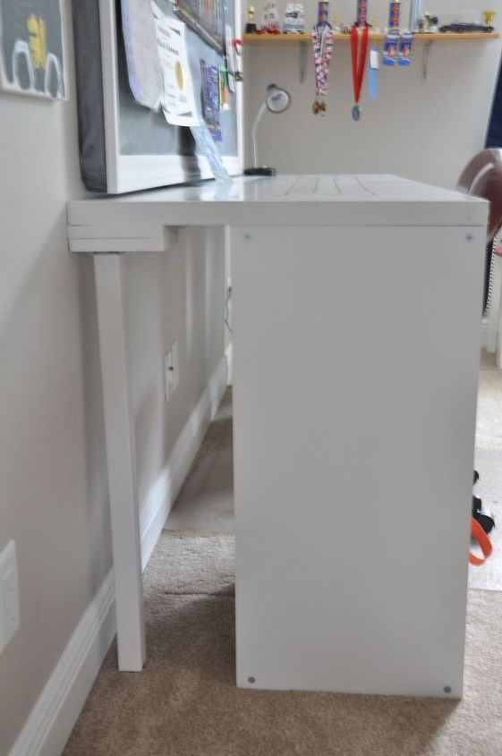 DIY Desk Using a Hollow Core Door and Some Cube Storage images