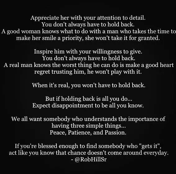 Appreciate Her With Your Attention To Detail Rob Hill Sr Quotes