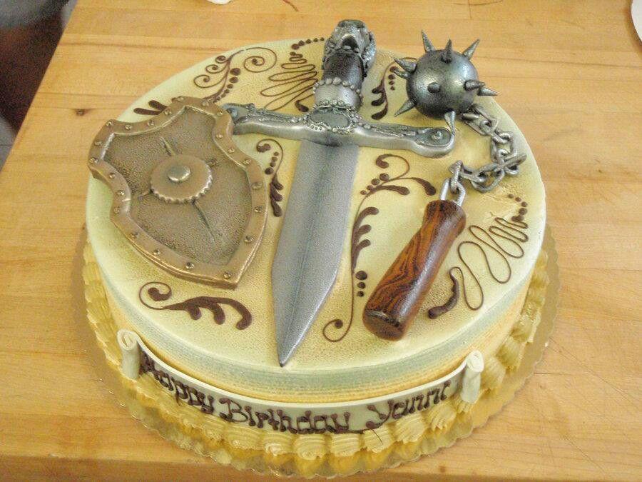 Superb Medieval Cake Sword Cake Fantasy Cake Cake Funny Birthday Cards Online Overcheapnameinfo