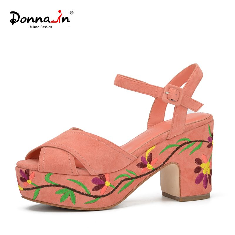 Donnain 60 Fashion Summer Wedges Platform With Patterned Heel Magnificent Patterned Heels