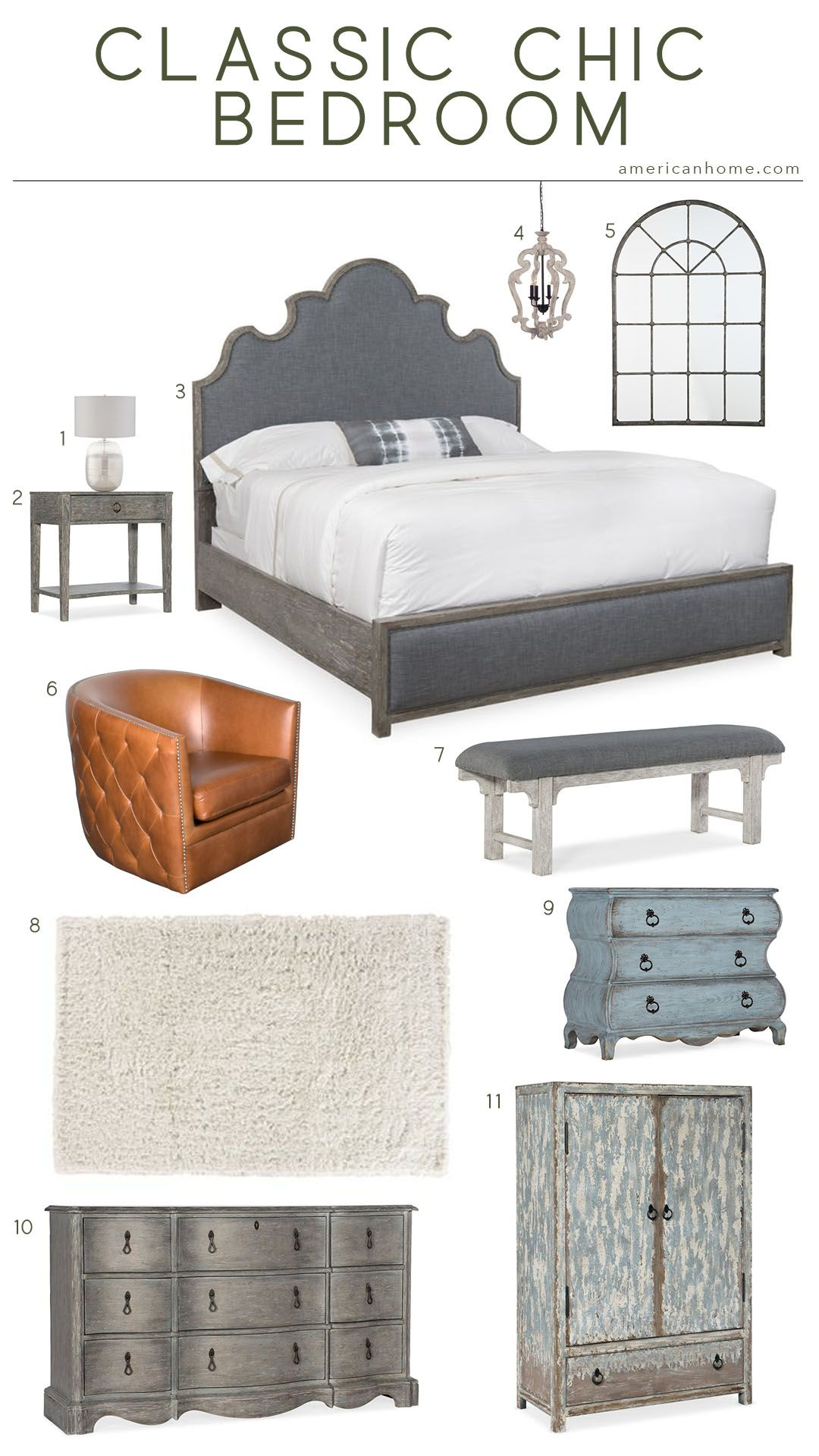 Bedroom Furniture High Resolution: Classic Chic Bedroom Inspiration In 2019