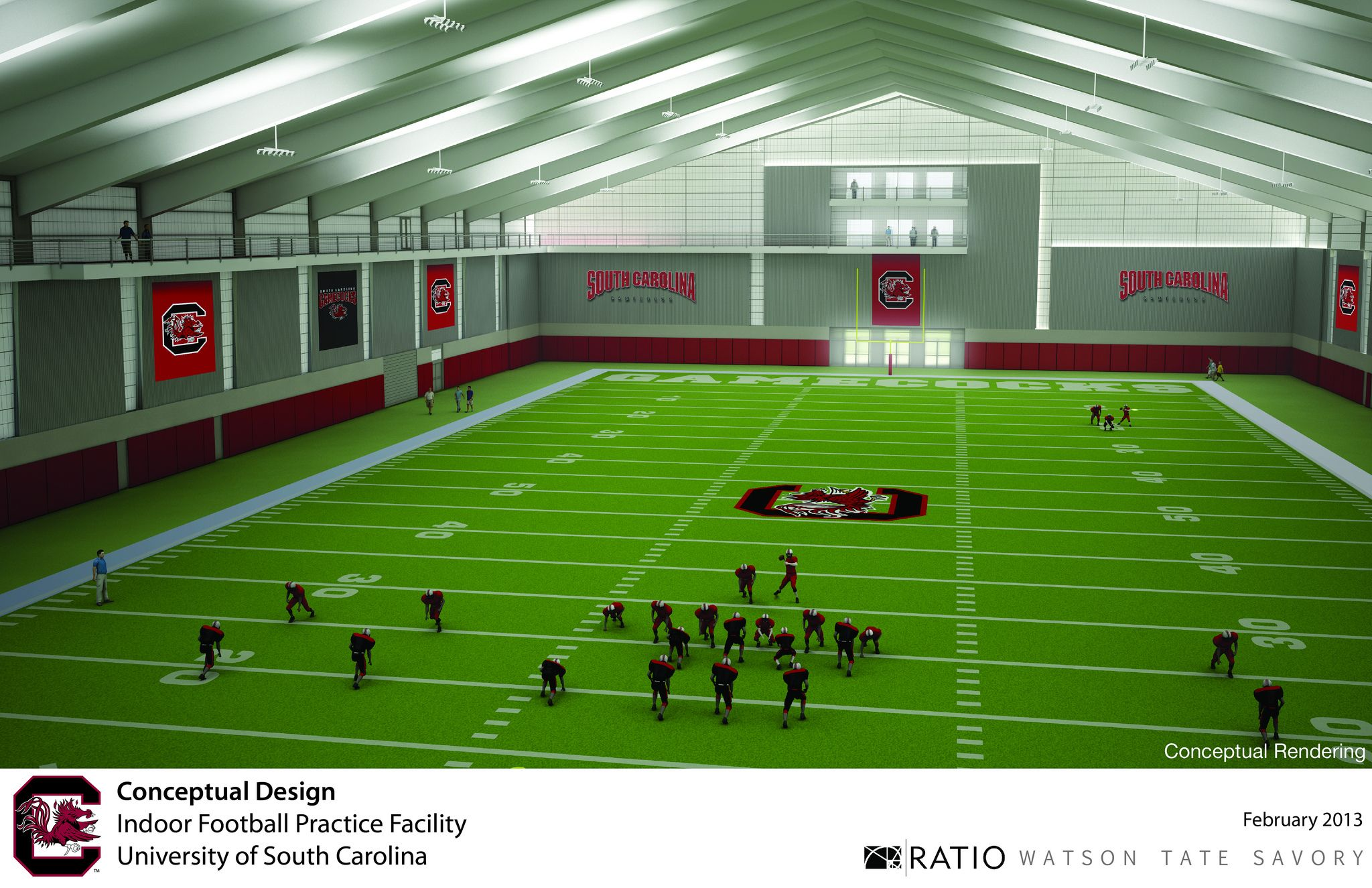Football Indoor Practice Facility Conceptual Rendering Indoor Soccer Field Football Formations Sports Complex