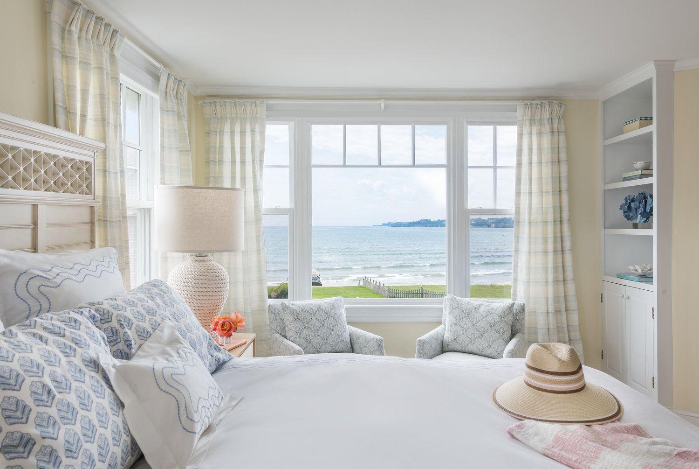 Interior Design, Rhode Island, Newport, Ocean View, Bedroom, Beach Style,
