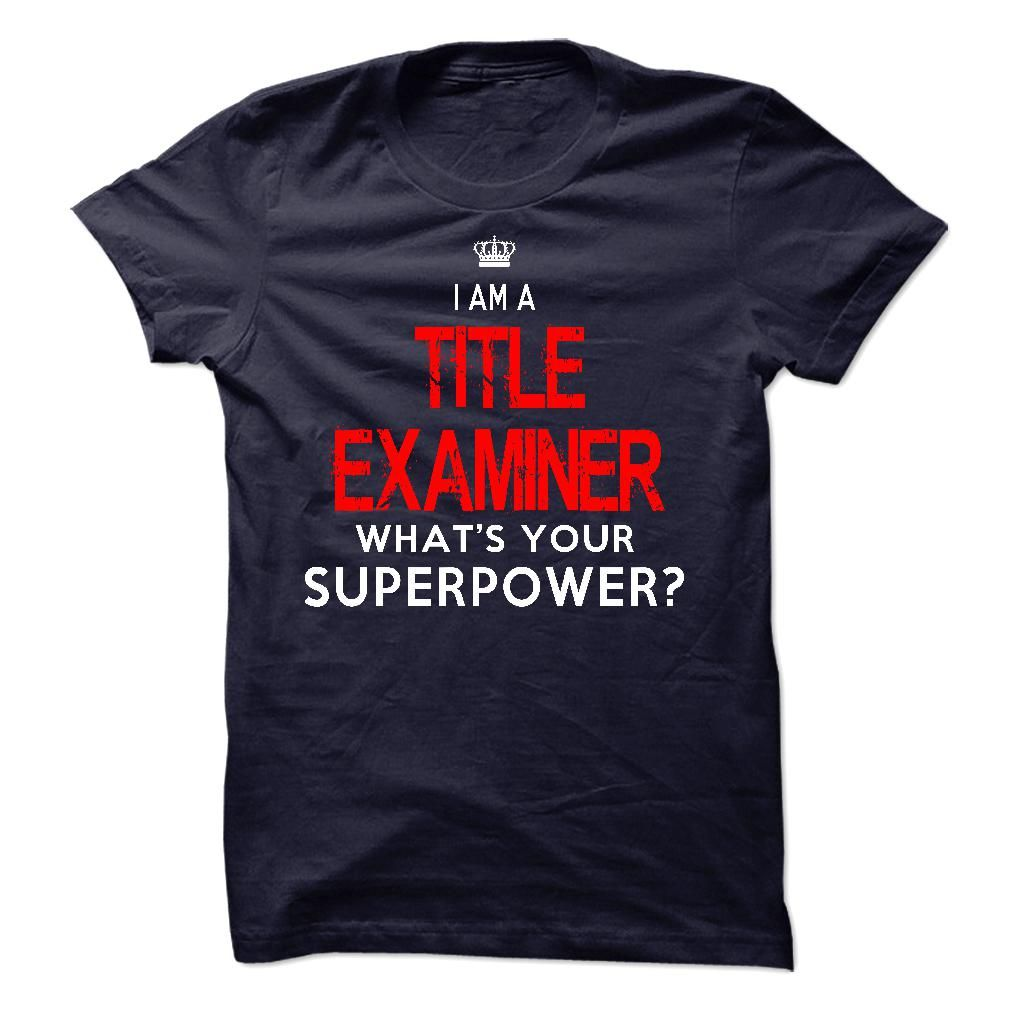 I'm A TITLE EXAMINER T-Shirts, Hoodies. Check Price Now ==► https://www.sunfrog.com/LifeStyle/Im-AAn-TITLE-EXAMINER-34625497-Guys.html?41382