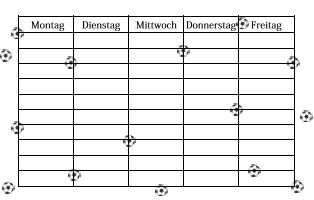 stundenplan zum ausdrucken kostenlos fußball | Stundenplan Fußball