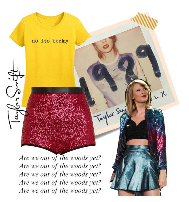 """""""Taylor Swift Concert Look"""" by fairytalist ❤ liked on Polyvore featuring Post-It and River Island"""