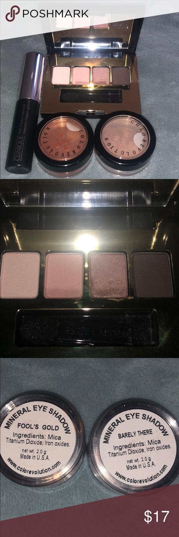 Eye makeup combo Estēe Lauder mini eyeshadow pallete 4