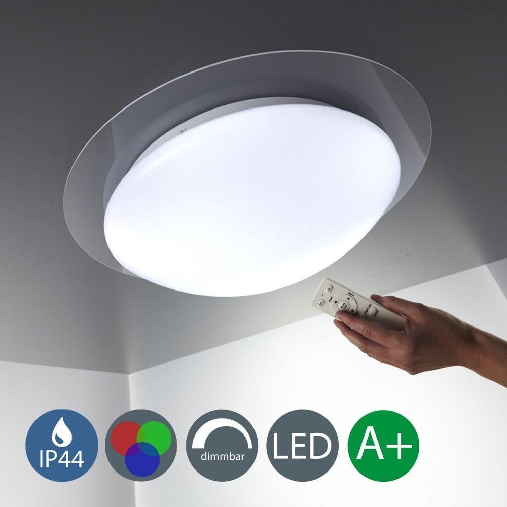 Details zu LED Decken-Leuchte Wohnzimmer dimmbar Farbwechsel Bad ...
