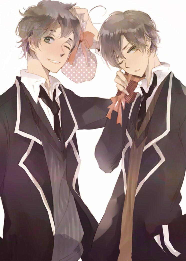 Antonio and Lovino exchanging gifts - Art by Kojima Lalako
