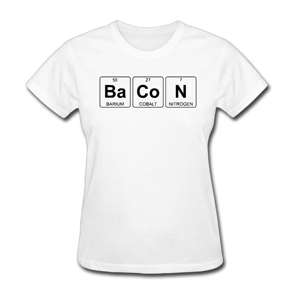 Click to buy women bacon periodic table printing short sleeve t click to buy women bacon periodic table printing short sleeve t urtaz Choice Image