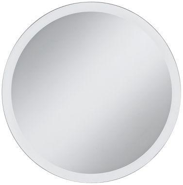 Round Beveled 30-Inch Frameless Wall Mirror