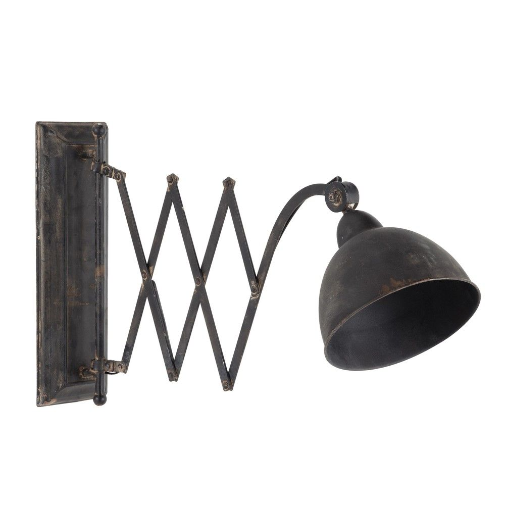Antiqued Metal Directional Wall Light Black House Extension