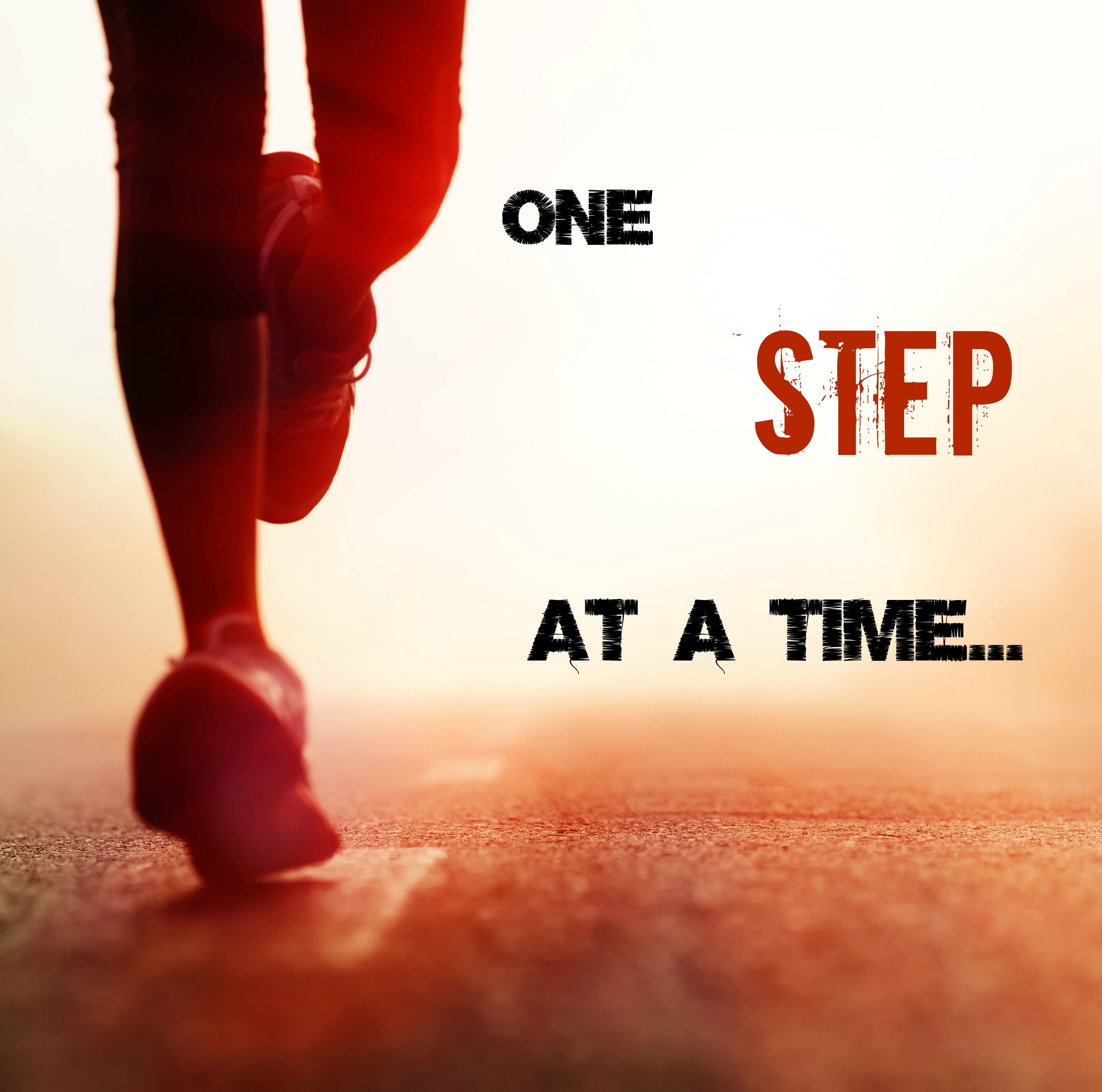running motivation one step at a time inspirational