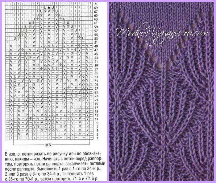 Узоры спицами в технике бриош - Модное вязание | Вязание | Pinterest ...
