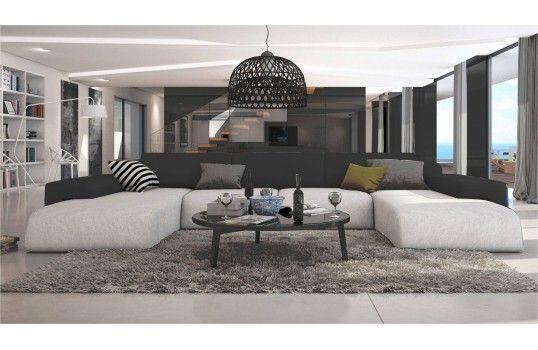 Pour un salon très contemporain le canapé design Fiorenza saura vous