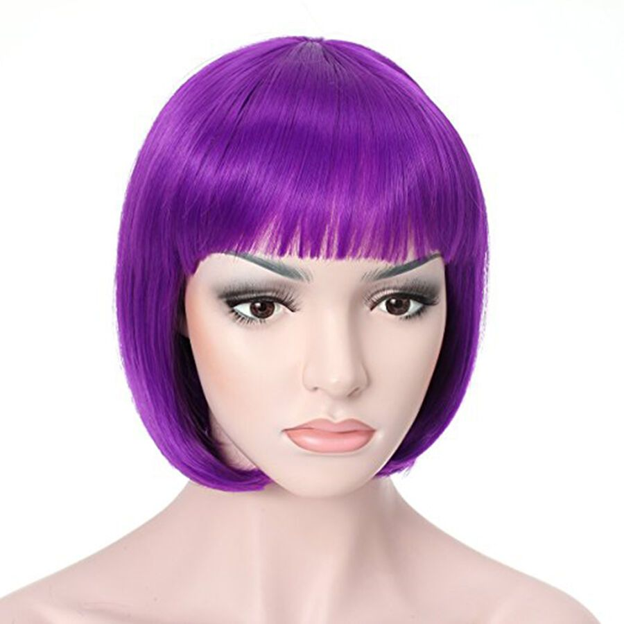 New Women Ladies Fancy Fun Party Dress Wig Bob Style Full Short Hair Wig Cosplay