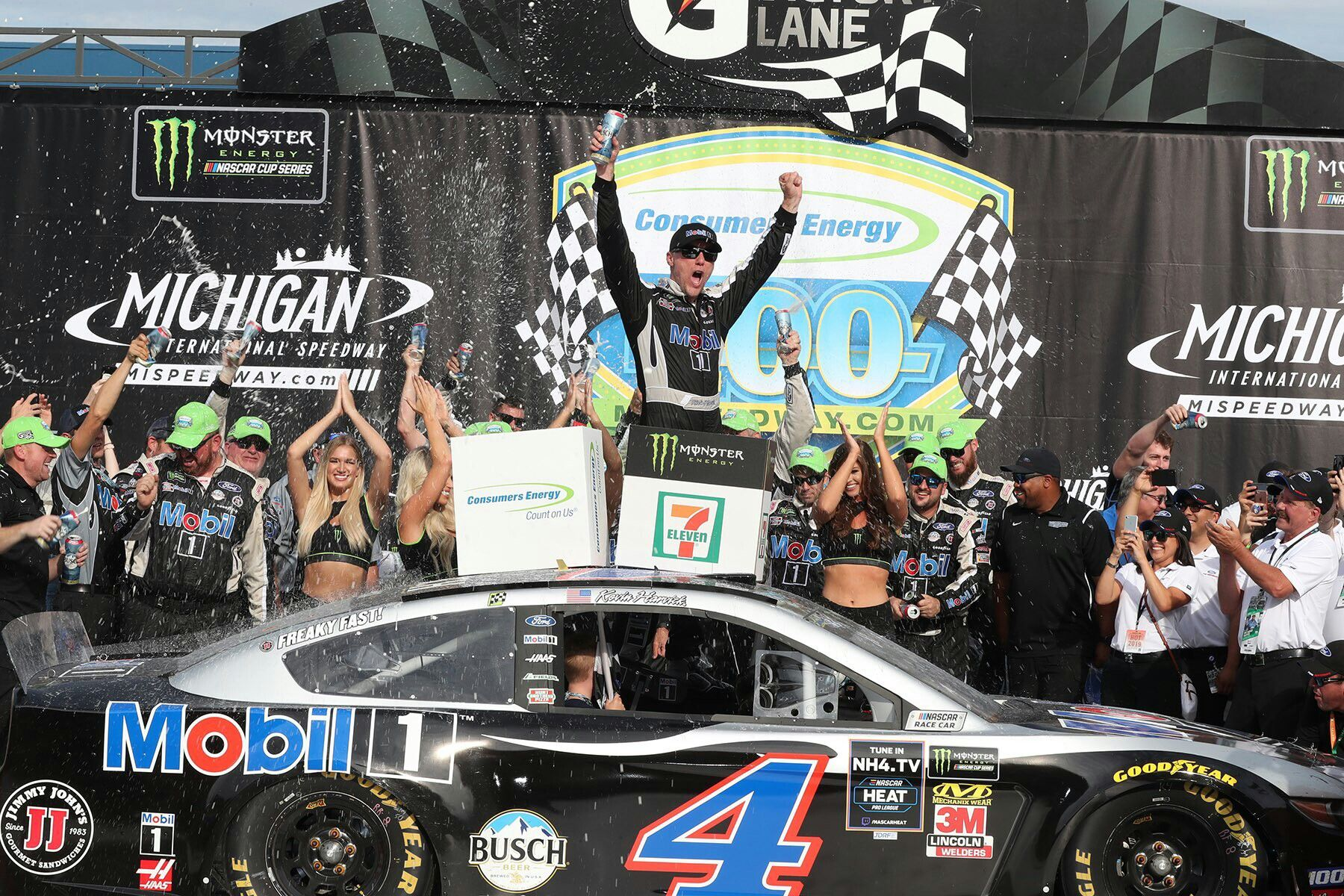 Michigan August 2019 Kevin Harvick In Victory Lane Kevin Harvick Monster Energy Nascar Cup Series Nascar Sprint Cup