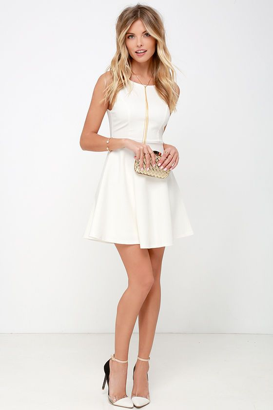 Pick of the Chic Ivory Skater Dress | Ivory, Perfect fit and Clothing