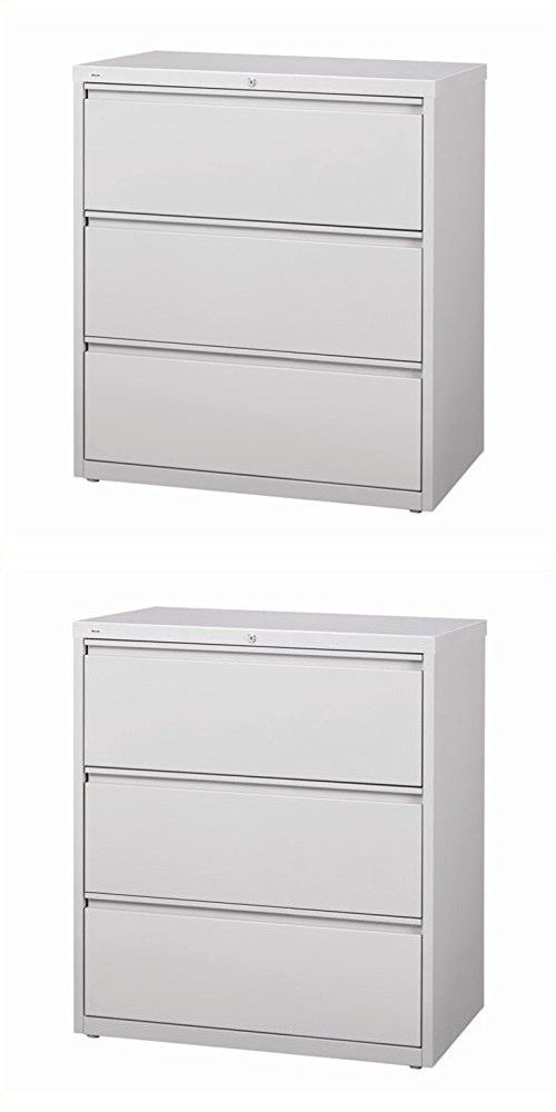Hirsh Industries LLC 10000 Series Lateral 36  Wide 3 Drawer File Cabinet in Gray  sc 1 st  Pinterest & Hirsh Industries LLC 10000 Series Lateral 36
