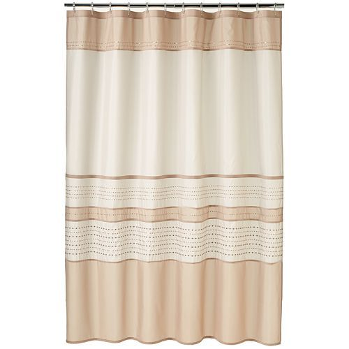 Home Classics® Embroidered Sequin Fabric Shower Curtain