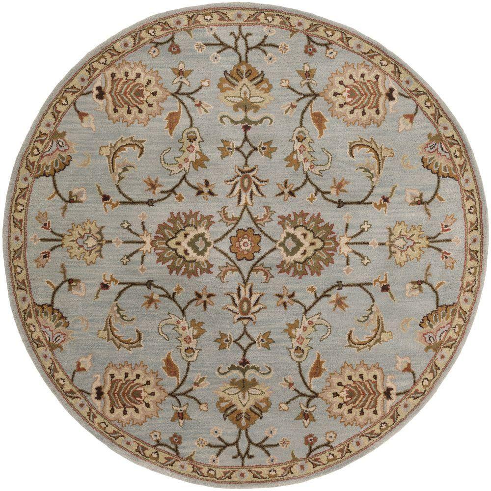 Artistic Weavers Middleton Mallie Light Blue 4 Ft X 4 Ft Round