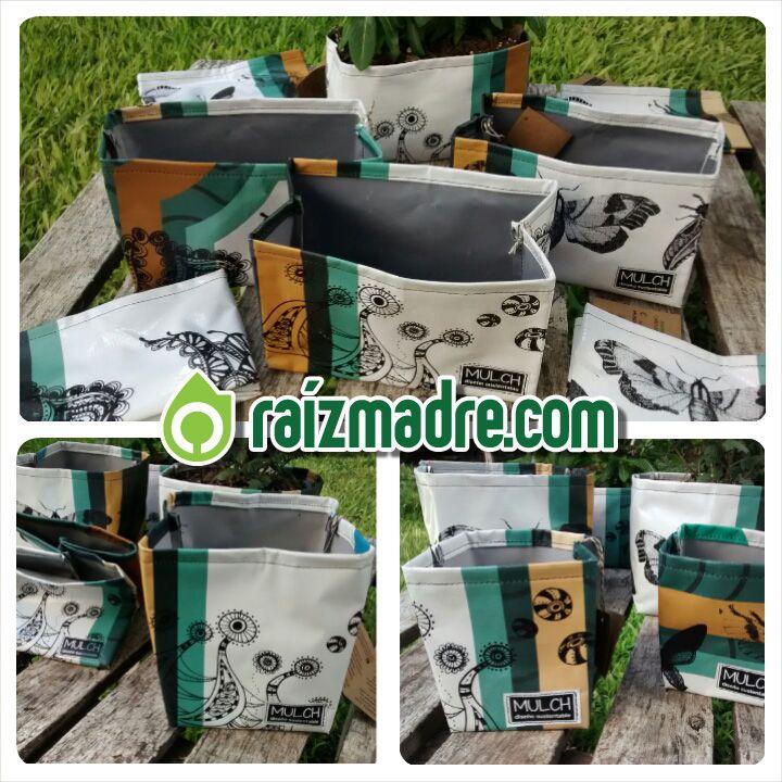 Les presentamos estas hermosas macetas de lona, con diseños únicos, producidos manualmente por nuestras amigas de Mulch diseño sustentable a partir de la re utilización de lonas de PVC de carteles publicitarios. Podes conseguirlas en los siguientes links: Jardinera 10x20x10 cm http://raizmadre.com/shopping.php?id_producto=223  Maceta 10x10 cm http://raizmadre.com/shopping.php?id_producto=224  Maceta 15x15 cm http://raizmadre.com/shopping.php?id_producto=225